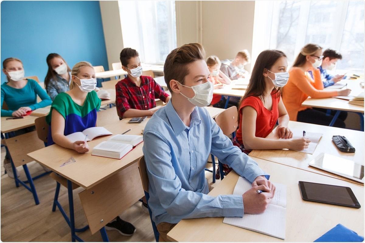 Изследване: Стратегии за минимизиране на предаването на SARS-CoV-2 в настройките на класната стая: Комбинирани въздействия на вентилацията и маскиране на ефективната ефективност на филтриране. Кредит за изображение: Syda Productions / Shutterstock